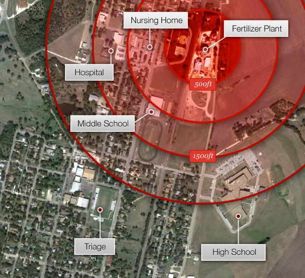 west_texas_fertilizer_plant_blast_map